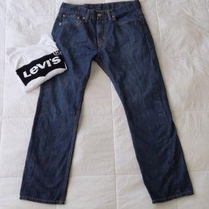 Levi's 513 darkwash straight leg mens jeans